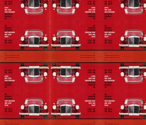 red benz fabric by lbehrendtdesigns on Spoonflower - custom fabric
