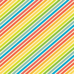 Rainbow Stripes Diagonal