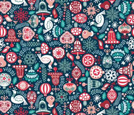 Oldschool Ornaments fabric by christinewitte on Spoonflower - custom fabric
