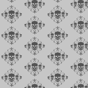 Gray Skulls Pattern