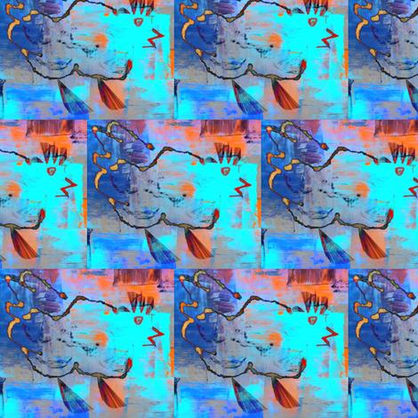 chicken-wild blue fabric by cathymcg on Spoonflower - custom fabric