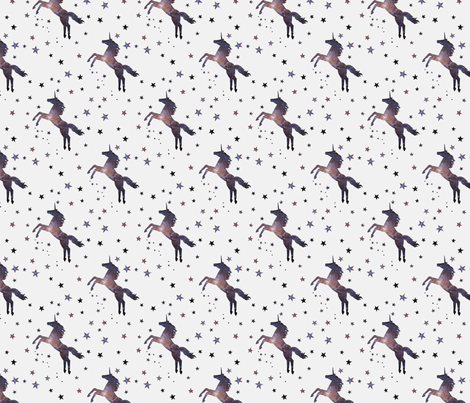 Cosmic Unicorn fabric by jamiepowell on Spoonflower - custom fabric
