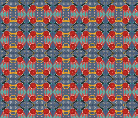 Vintage Spin small fabric by lbehrendtdesigns on Spoonflower - custom fabric