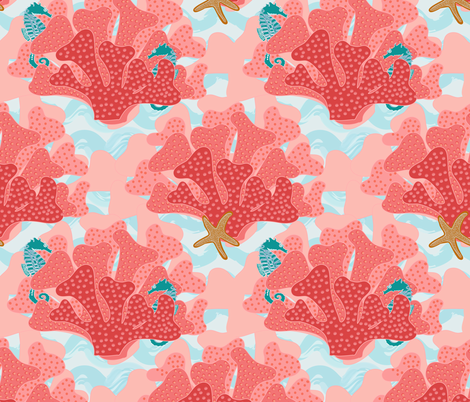 Horsing Around on the Reef fabric by shellypenko on Spoonflower - custom fabric