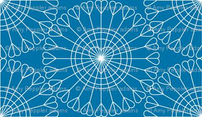 Open Your Heart* (Blue Liz)    hearts Ferris wheel valentine valentines day love geometric mandala wire