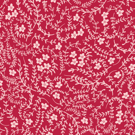 Scattered (raspberry) fabric by nouveau_bohemian on Spoonflower - custom fabric