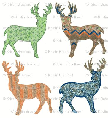 Meadow Deer Multi/Navy