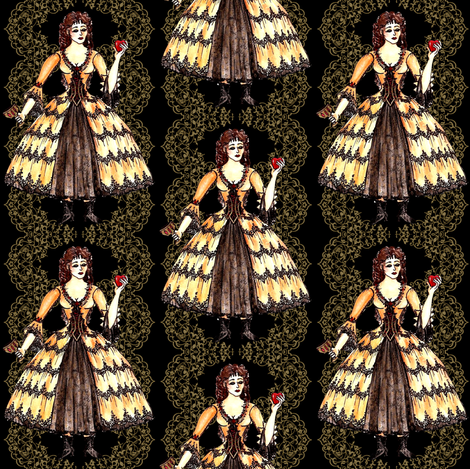 Aminta fabric by kaedralynn on Spoonflower - custom fabric