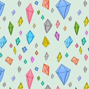 Colourful diamonds