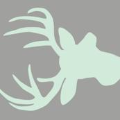 Mint deer on grey 2