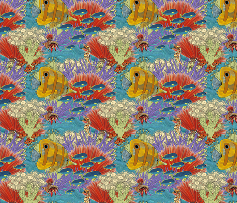 Great barrier reef fabric by linsart on Spoonflower - custom fabric