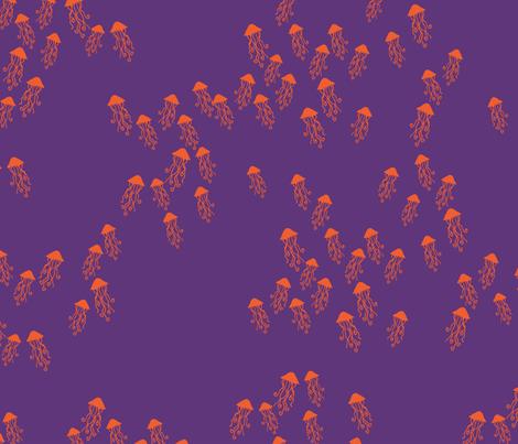 Jelly Fish purple ocean fabric by patriciasodre on Spoonflower - custom fabric