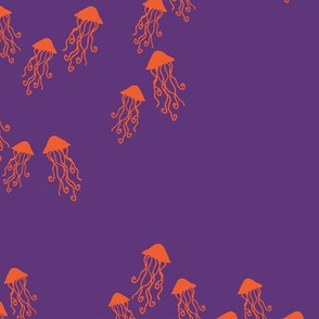 Jelly Fish purple ocean