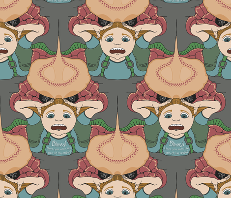 ChampagneDesign-Blimey---Have-you-seen-the-size-of-his-crabs-unitcell fabric by feene on Spoonflower - custom fabric