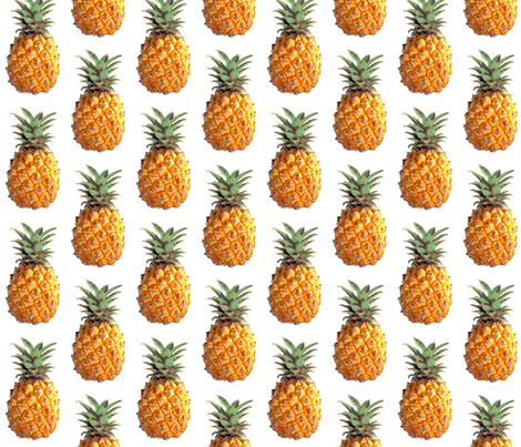 Pineapple fabric by emmahartung on Spoonflower - custom fabric
