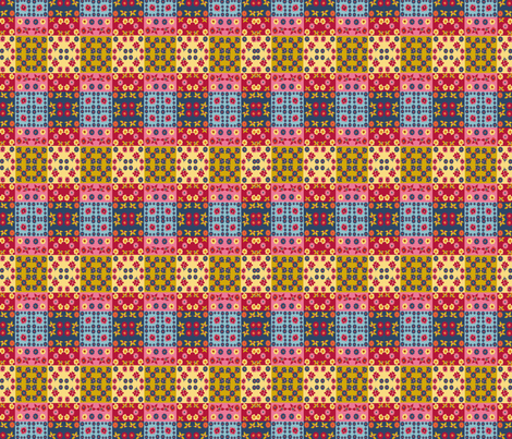 Caroles_Floral_Quilt_Mini4 fabric by scifiwritir on Spoonflower - custom fabric