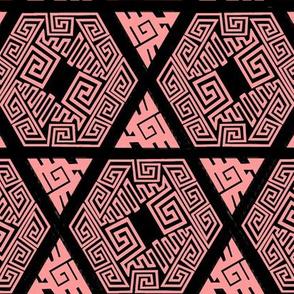 Zentangle Twisted Fret ff9999