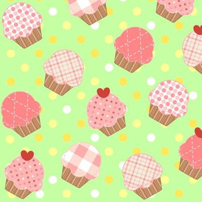 Pink Cupcakes Green