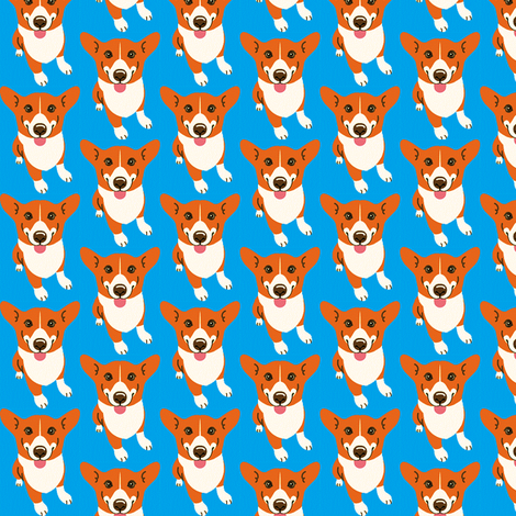 Corgi Derp fabric by knitmileofdoom on Spoonflower - custom fabric