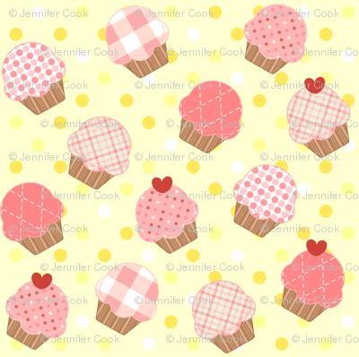 Pink Cupcakes Yellow