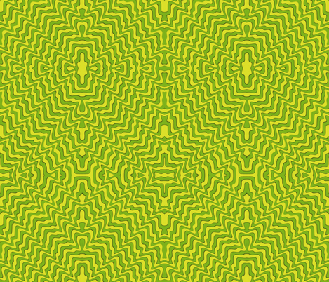 The big green wave fabric by whimzwhirled on Spoonflower - custom fabric