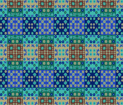 Caroles_Floral_Quilt_Mini3 fabric by scifiwritir on Spoonflower - custom fabric