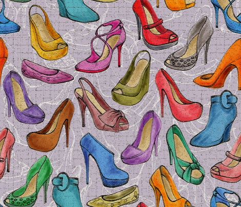 Shoes Louboutin fabric by cassiopee on Spoonflower - custom fabric