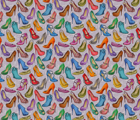 Shoes Louboutin fabric by leventetladiscorde on Spoonflower - custom fabric