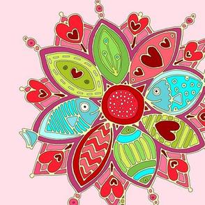 love flower pink