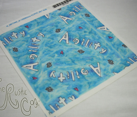 Agility hearts and paws - blue