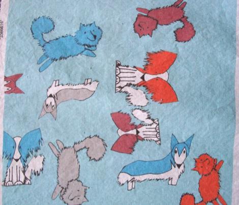 Blue Lap Dog Print