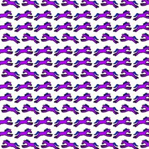 Petite Ponies in purple