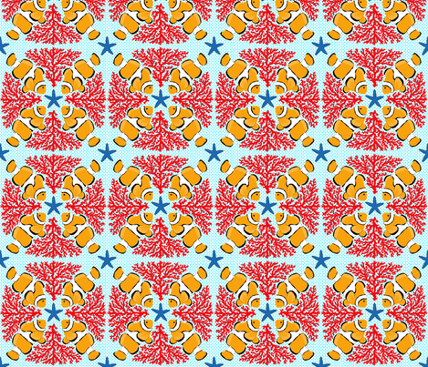 Australian_reef_project2JPG fabric by helenpdesigns on Spoonflower - custom fabric