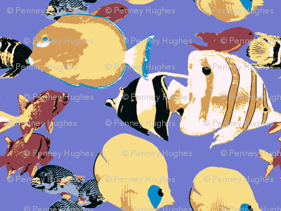 Tropical fish of the great barrier reef fabric for Discount aquarium fish and reef