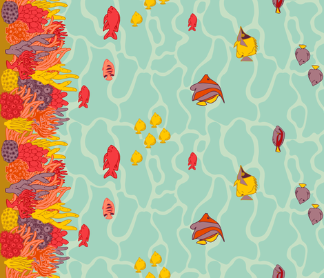 Along the Reef fabric by cresta on Spoonflower - custom fabric