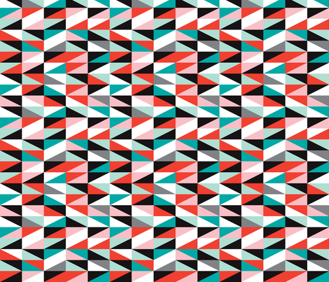 Pastel modern geometric cubist mid century anstract design fabric by littlesmilemakers on Spoonflower - custom fabric