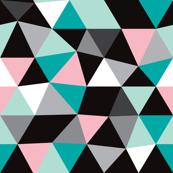 Pastel modern geometric triangle pattern LARGE