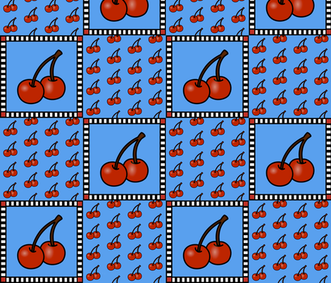 Cherry Cheater fabric by whimzwhirled on Spoonflower - custom fabric