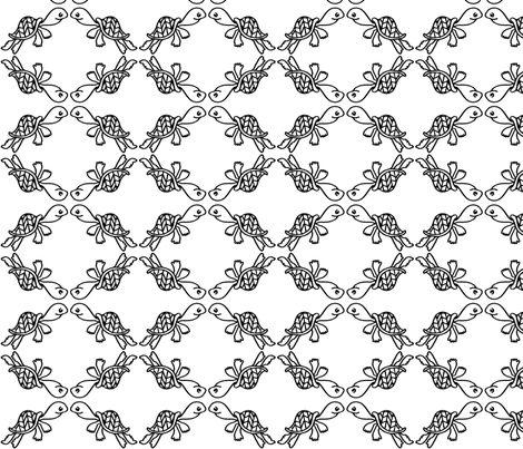 Turtle Trellis fabric by ellisalice on Spoonflower - custom fabric