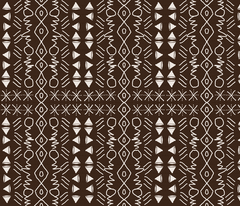 faux mudcloth fabric by nalo_hopkinson on Spoonflower - custom fabric