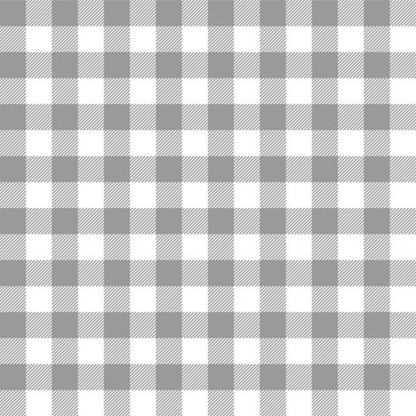 Gingham Gray Half fabric by juliesfabrics on Spoonflower - custom fabric