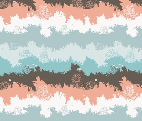 Corallo - Positano fabric by aliceelettrica on Spoonflower - custom fabric