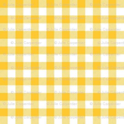 Gingham Yellow half