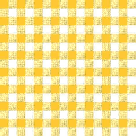 Gingham Yellow half fabric by juliesfabrics on Spoonflower - custom fabric