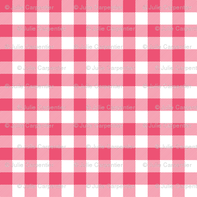Gingham Pink Half