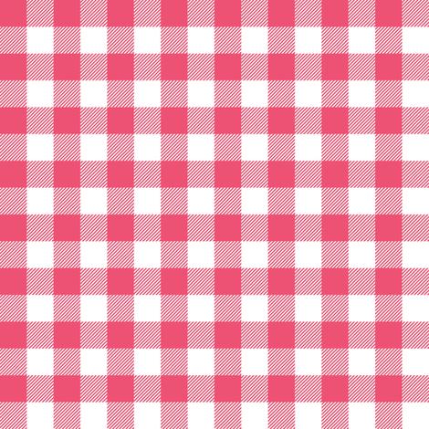 Gingham Pink Half fabric by juliesfabrics on Spoonflower - custom fabric