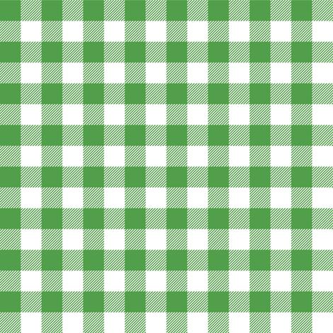 Gingham Green Half fabric by juliesfabrics on Spoonflower - custom fabric