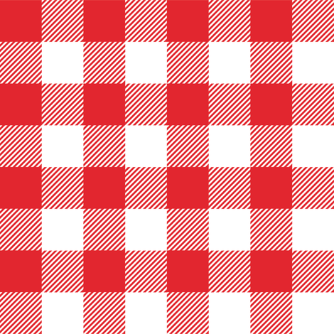 Gingham RED One fabric by juliesfabrics on Spoonflower - custom fabric