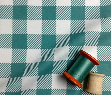 Gingham Turq One