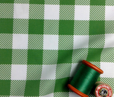 Gingham Green One